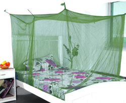 Elegant Green Double Bed Mosquito Net