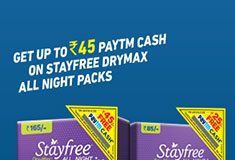 Stayfree Paytm Cashback Offer