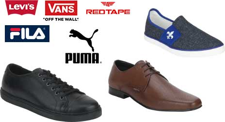 70% OFF on Top Footwear Brands