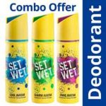 Set Wet Deodorant Spray Perfume Pack of 3