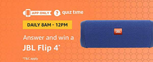 Amazon Quiz Answers for JBL Flip 4 Speaker