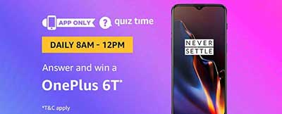 Amazon Quiz Answers for OnePlus 6T