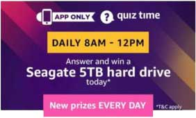 Amazon Quiz Answers for 5TB Hard Drive