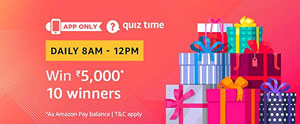 Amazon QuizTime Answers Win Rs. 5000