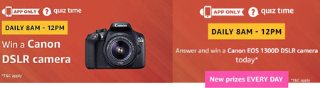 Canon 1300D DSLR Camera Quiz