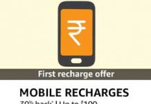 Amazon Mobile Recharge Cashback Offer