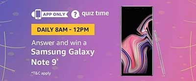 Amazon QuizTime Answers for Samsung Galaxy Note 9