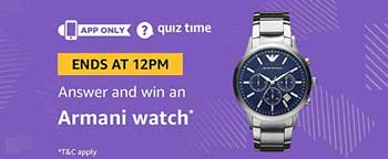 Amazon QuizTime Answers for Armani Watch