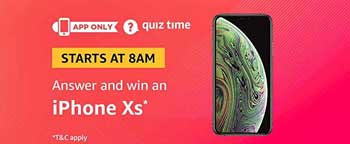 Amazon QuizTime Answers to Win an iPhone Xs