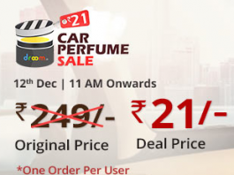 Droom Car Perfume Flash Sale Offer