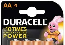 Duracell AA Battery Pack Of 4