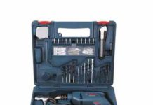 Bosch GSB 500W RE Tool Set Blue Drill Tool Kit