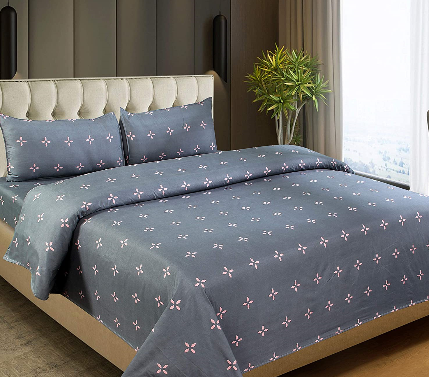 Bedsheet-with-2-Pillow-Covers-100-Cotton-from-Dynamic-Homes