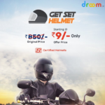 Get Set Helmet, Droom Helmet Flash Sale, Rs 9 Only Helmet