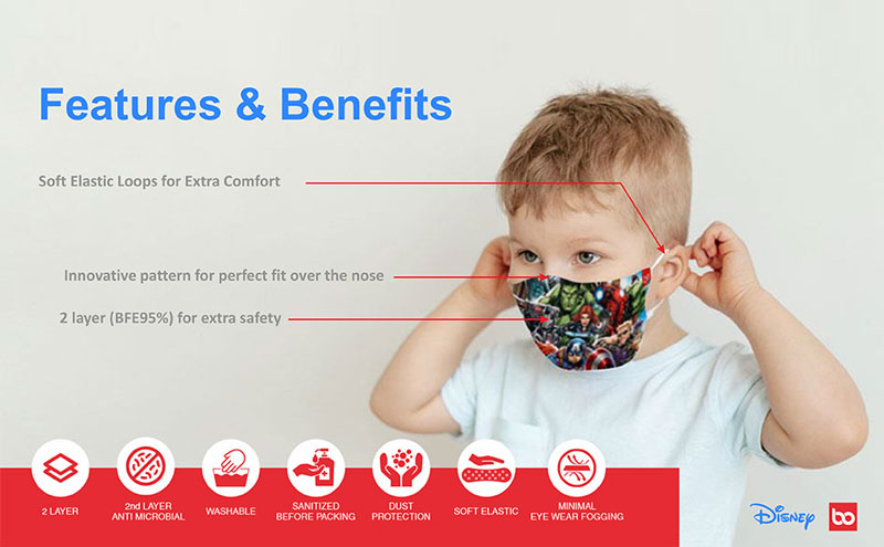 Features and Benefits of Face Mask Bundle For Kids