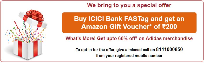 ICICI Bank FASTag Offer