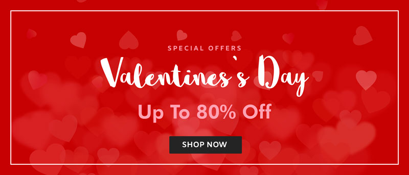 Valentine's Day Offers Upto 80% Off